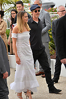 "CANNES, FRANCE. May 22, 2019: Margot Robbie & Brad Pitt at the photocall for ""Once Upon a Time in Hollywood"" at the 72nd Festival de Cannes.<br /> Picture: Paul Smith / Featureflash"