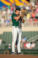 Greensboro Grasshoppers starting pitcher Tyler Kolek (30) looks to his catcher for the sign against the Kannapolis Intimidators at CMC-Northeast Stadium on August 1, 2015 in Kannapolis, North Carolina.  The Intimidators defeated the Grasshoppers 7-4.  (Brian Westerholt/Four Seam Images)