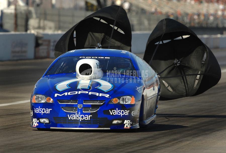 Nov 3, 2007; Pomona, CA, USA; NHRA pro stock driver Richie Stevens Jr during qualifying for the Auto Club Finals at Auto Club Raceway at Pomona. Mandatory Credit: Mark J. Rebilas-US PRESSWIRE