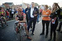 Joeri Adams (BEL/Vastgoedservice-Golden Palace) after the finish line<br /> <br /> Koppenbergcross 2014