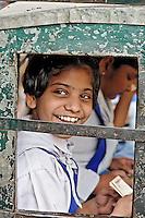 Uniformed school kids, Delhi, India
