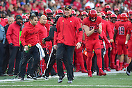 College Park, MD - NOV 12, 2016: Maryland Terrapins head coach DJ Durkin on the sidelines during game between Maryland and Ohio State at Capital One Field at Maryland Stadium in College Park, MD. (Photo by Phil Peters/Media Images International)