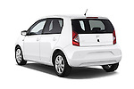 Car pictures of rear three quarter view of a 2014 Seat MII Style 5 Door Hatchback 2WD Angular Rear