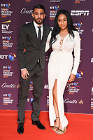 Riyad Mahrez &amp; Rita Johal  at the BT Sport Industry Awards 2017 at Battersea Evolution, London, UK. <br /> 27 April  2017<br /> Picture: Steve Vas/Featureflash/SilverHub 0208 004 5359 sales@silverhubmedia.com
