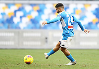 14th January 2020; Stadio San Paolo, Naples, Campania, Italy; Coppa Italia Football, Napoli versus Perugia; Lorenzo Insigne of Napoli shoots and scores from the penalty spot in the 26th minute for 1-0 - Editorial Use