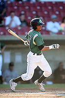 May 27, 2010: Marcelino, Leyja (2) of the Kane County Cougars at Elfstrom Stadium in Geneva, IL. The Cougars are the Midwest League Class A affiliate of the Oakland Athletics. Photo by: Chris Proctor/Four Seam Images