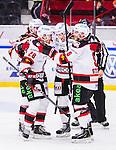 S&ouml;dert&auml;lje 2014-10-23 Ishockey Hockeyallsvenskan S&ouml;dert&auml;lje SK - Malm&ouml; Redhawks :  <br /> Malm&ouml; Redhawks Mathias Tj&auml;rnqvist firar sitt 5-2 m&aring;l med lagkamrater<br /> (Foto: Kenta J&ouml;nsson) Nyckelord: Axa Sports Center Hockey Ishockey S&ouml;dert&auml;lje SK SSK Malm&ouml; Redhawks jubel gl&auml;dje lycka glad happy
