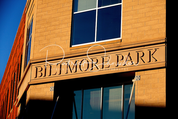 Residential and retail offerings at Asheville NC's Biltmore Park Town Square, a planned community of residential living, office spaces and shopping. The 42-acre project, built by Crosland LLC and Biltmore Farms LLC, include condos, townhomes and apartments in a mountain setting.