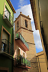 Historic church and houses village of Benimaurell, Vall de Laguar, Marina Alta, Alicante province, Spain