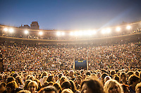 VALENCIA, SPAIN - JUNE 20: Fans during Miguel Bose concert at Valencia Bullring on June 20, 2015 in Valencia, Spain