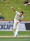 4th December 2017, Basin Reserve, Wellington, New Zealand; International Test Cricket, Day 4, New Zealand versus West Indies;  Matt Henry bowling