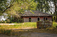 Abandoned building in the Route 66 Ghost Town of Hext Oklahoma.