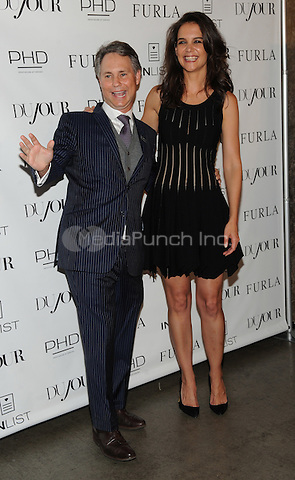 New York, NY-September 16:  Jason Binn and Katie Holmes attend DuJour Magazine cover unveiling at PHD Rooftop Lounge on September 16, 2014 at the Dream Hotel in New York City. Credit: John Palmer/MediaPunch