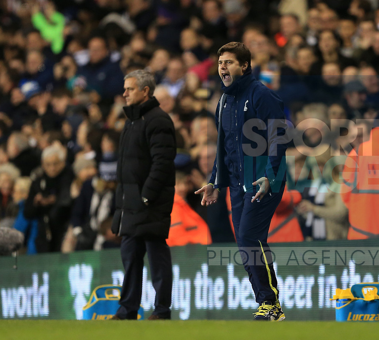 Tottenham's Mauricio Pochettino celebrates his sides fifth<br /> <br /> Barclays Premier League - Tottenham Hotspur vs Chelsea - White Hart Lane  - England - 1st January 2015 - Picture David Klein/Sportimage