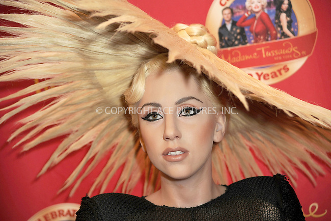 WWW.ACEPIXS.COM . . . . . .December 9, 2010...New York City...A Lady Gaga wax figure at the unveiling at Madame Tussauds in Times Square. Eight replicas of the pop singer were unveiled today at different branches of Madame Tussauds wax museums across the globe on December 9, 2010 ....Please byline: KRISTIN CALLAHAN - ACEPIXS.COM.. . .Ace Pictures, Inc: ..tel: (212) 243 8787 or (646) 769 0430..e-mail: info@acepixs.com..web: http://www.acepixs.com .