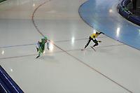SCHAATSEN: GRONINGEN: Sportcentrum Kardinge, 17-01-2015, KPN NK Sprint, Floor van den Brandt, Annette Gerritsen, ©foto Martin de Jong