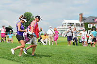 Gerina Piller (USA) departs the first tee during Saturday's third round of the 72nd U.S. Women's Open Championship, at Trump National Golf Club, Bedminster, New Jersey. 7/15/2017.<br /> Picture: Golffile | Ken Murray<br /> <br /> <br /> All photo usage must carry mandatory copyright credit (&copy; Golffile | Ken Murray)