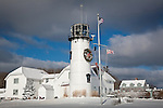 Chatham Light at Christmas, Chatham, Cape Cod, MA, USA