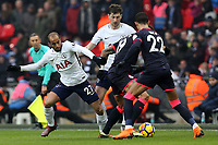Lucas of Tottenham Hotspur and Daniel Williams of Huddersfield Town during Tottenham Hotspur vs Huddersfield Town, Premier League Football at Wembley Stadium on 3rd March 2018
