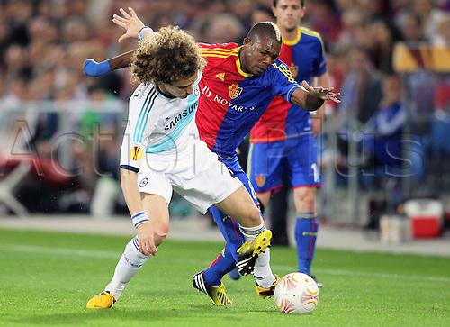 25.04.2013 Basel, Switzerland. Semi Finals Europa League Cup. FC Basel versus Chelsea FC 1st leg. David Luiz Chelsea