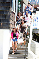 The entire cast of the show leave the house for a secret destination during filming of The Jersey Shore Show season six in Seaside Heights, New Jersey on June 27, 2012  © Star Shooter / MediaPunchInc /*NORTEPHOTO.COM*<br />