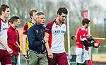 ALMERE - Hockey - Hoofdklasse competitie heren. ALMERE-HGC (0-1) . Stijn Jolie (Almere) met manager Martin de Koning. na de wedstrijd.  COPYRIGHT KOEN SUYK