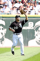 August 15 2008:  Right Fielder Carlos Quentin of the Chicago White Sox during a game at U.S. Cellular Field in Chicago, IL.  Photo by:  Mike Janes/Four Seam Images