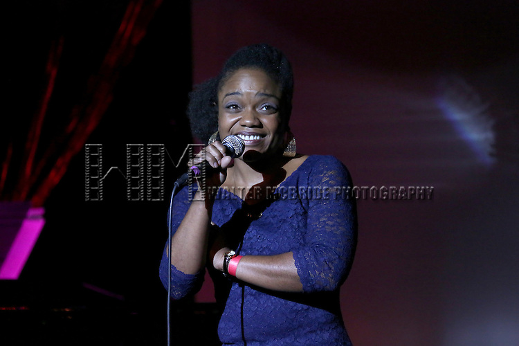 Kenita Miller performing at The Lilly Awards Broadway Cabaret'   at The Cutting Room on November 9, 2015 in New York City.