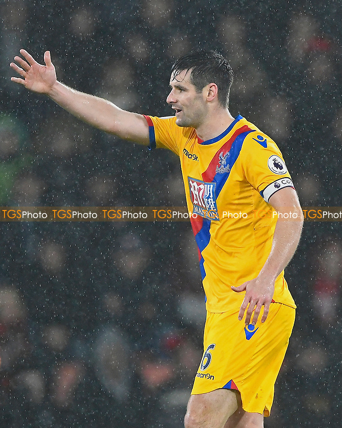 Scott Dann of Crystal Palace during AFC Bournemouth vs Crystal Palace, Premier League Football at the Vitality Stadium on 31st January 2017