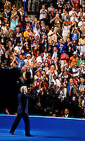 Sen. John Kerry (D-Ma.) addresses the audience during the final day of the 2012 Democratic National Convention at the Time Warner Center on September 6, 2012 in Charlotte, North Carolina.