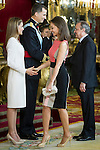 First official act of the Kings Felipe VI and Letizia Ortiz, waving at Isabel Preysler. Royal Palace. Madrid. 06/19/2014. Samuel Roman/Photocall3000