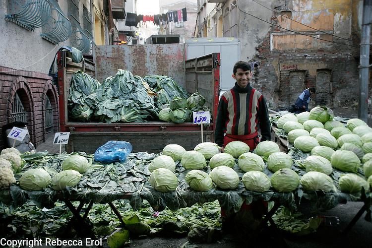 Market stall-holder, Istanbul, Turkey