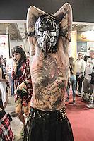 SÃO PAULO,SP, 23.07.2016 - TATTOO-WEEK - Movimentação durante o Tattoo Week no Expo Center Norte - Pavilhão Azul na região norte de São Paulo neste sábado, 23. (Foto: Marcio Ribeiro/Brazil Photo Press)