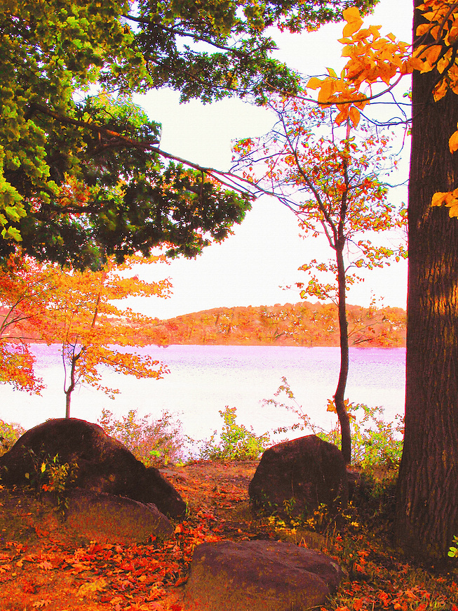 Rockland Lake, Autumn, scenic Rockland Lake