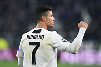 Cristiano Ronaldo of Juventus celebrates after scoring a goal during the Uefa Champions League 2018/2019 round of 16 second leg football match between Juventus and Atletico Madrid at Juventus stadium, Turin, March, 12, 2019 <br />  Foto Image Sport / Insidefoto