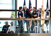"United States Capitol Police arrest protestors chanting ""Healthcare is a right"" outside the office of United States Senator Lisa Murkowski (Republican of Alaska) in the Hart Senate Office Building in Washington, DC on Wednesday, June 28, 2017.<br /> Credit: Ron Sachs / CNP"