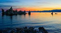 Magic Hour unfolds at South Tufa on an October morning at Mono Lake