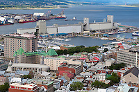 The Bunge grain silo and the bassin Louise Marina are pictured in Quebec city August 26, 2009. In this picture can also be seen the Marche du Vieux-port market, hopital hote-dieux, residential area and the industrial portion of the port.