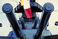Main turret guns on the Battleship Texas. Houston Texas, Battleship Texas.