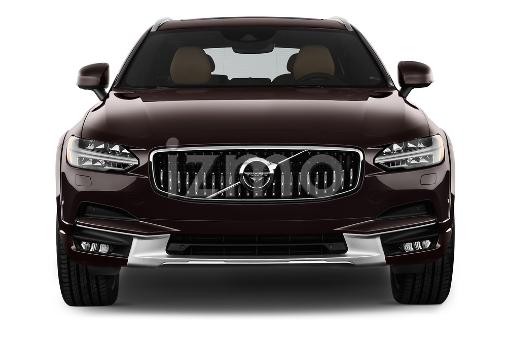 Car photography straight front view of a 2017 Volvo V90 Corss Country Pro 5 Door Wagon