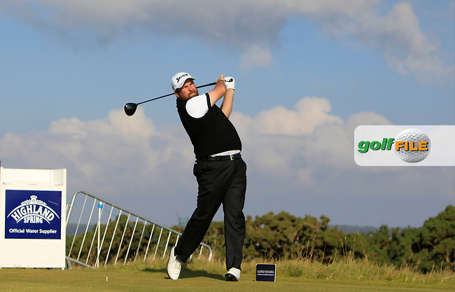 Shane Lowry (IRL) on the 14th tee during Round 4 of the 2015 Alfred Dunhill Links Championship at the Old Course in St. Andrews in Scotland on 4/10/15.<br /> Picture: Thos Caffrey | Golffile