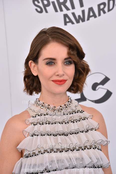 Alison Brie at the 2018 Film Independent Spirit Awards on the beach in Santa Monica, USA 03 March 2018<br /> Picture: Paul Smith/Featureflash/SilverHub 0208 004 5359 sales@silverhubmedia.com