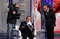 Silvio Berlusconi explains the program for his electoral campaign<br /> Roma 11/01/2018. Trasmissione tv Rai 'Porta a Porta'.<br /> Rome January 11th 2018. Silvio Berlusconi appears as a guest on the talk show 'Porta a Porta' in Rome<br /> Foto Samantha Zucchi Insidefoto