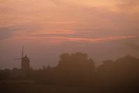 Europe/France/Pays de la Loire/85/Vendée/Sallertaine: Le moulin de Rairé à l'aube