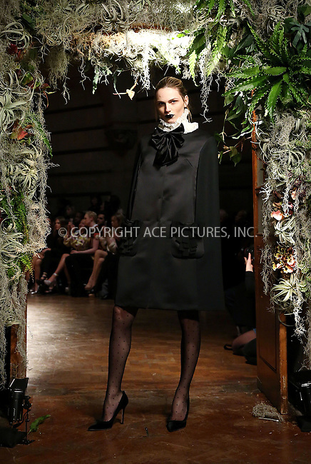 WWW.ACEPIXS.COM<br /> <br /> February 23 2015, London<br /> <br /> Andreja Pejic at the Giles Front Row show during London Fashion Week Autumn/Winter 2015 on February 23 2015 in London<br /> <br /> By Line: Famous/ACE Pictures<br /> <br /> <br /> ACE Pictures, Inc.<br /> tel: 646 769 0430<br /> Email: info@acepixs.com<br /> www.acepixs.com