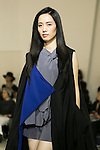 Miss British Empire Shangai representative Mei poses on the catwalk wearing clothes from the tenbo 2016 Spring-Summer Collection during the Mercedes-Benz Fashion Week Tokyo, in Roppongi on October 13, 2015, Tokyo, Japan. tenbo invited people with disabilities to join models and celebrities on the runway in a message of peace. The Mercedes-Benz Fashion Week Tokyo runs from October 12 to 17. (Photo by Rodrigo Reyes Marin/AFLO)