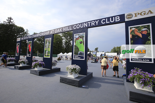 Retail area during Thursday's Round 1 of the 95th US PGA Championship 2013 held at Oak Hills Country Club, Rochester, New York.<br /> 8th August 2013.<br /> Picture: Eoin Clarke www.golffile.ie