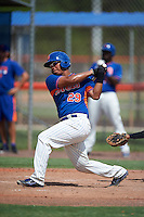 GCL Mets first baseman Victor Moscote (29) at bat during the first game of a doubleheader against the GCL Marlins on July 24, 2015 at the St. Lucie Sports Complex in St. Lucie, Florida.  GCL Marlins defeated the GCL Mets 5-4.  (Mike Janes/Four Seam Images)