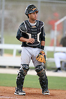April 14, 2009:  Catcher Jose Ceballos of the Florida Marlins extended spring training team during a game at Roger Dean Stadium Training Complex in Jupiter, FL.  Photo by:  Mike Janes/Four Seam Images
