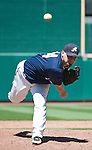 Reno Aces pitcher Mike DeMark throws against the Sacramento River Cats during their game played on Tuesday afternoon, July 31, 2012 in Reno, Nevada.